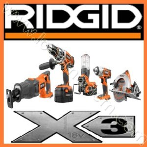 Rigid Cordless Combo Kits, Ridgid Tools