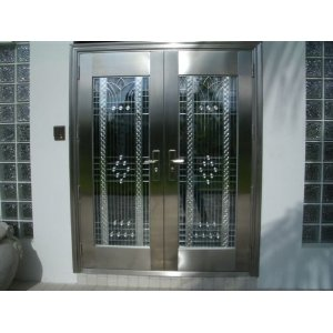 Delighful Exterior Metal Door Cnu Hollow And Inspiration